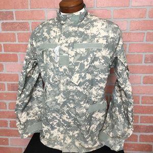 Army fatigues ACU top shirt utility pockets (3L43)